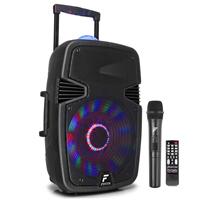 """Fenton FT15JB 15"""" Portable Bluetooth Karaoke Speaker & Wireless Mic"""