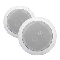 E-Audio B412 2-Way Round Ceiling Speakers Twin Offset Tweeters