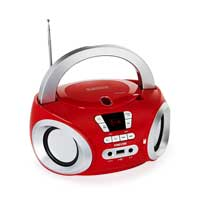Fonestar BOOM-50R Red Bluetooth CD Player Boombox