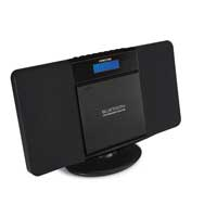 Fonestar FLAT-N Black Micro Hifi Stereo System Built-In Speakers