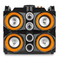 Front of bluetooth party speaker