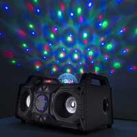 Speaker's disco lights
