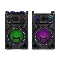 "Fenton VS12 12"" Bluetooth Active Party PA Speaker Pair"