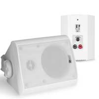 PD BC40V White 4 Inch Outdoor Passive Speaker Set