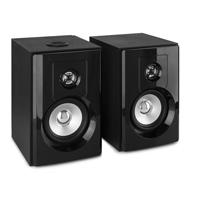 "Vonyx SHF404B 4"" Powered Bluetooth Bookshelf Speakers"