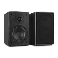 "Vonyx SHF505B 5.25"" Powered Bluetooth Bookshelf Speakers"
