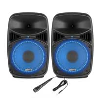 "Vonyx VPS082A 8"" Active Party Speaker Set"
