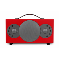 Tibo Sphere 4 Portable Stereo Speaker with Bluetooth & WiFi, Red