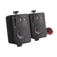E-Audio B416B Wall Speakers & Brackets, Black