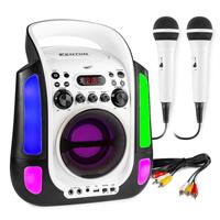 Fenton SBS30W Kids Karaoke Machine with Microphones, White