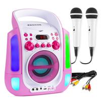 Fenton SBS30P Kids Karaoke Machine with Microphones, Pink