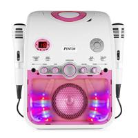 Fenton SBS20P Kids Karaoke Machine with Microphones, Pink