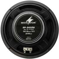 """Monacor SP-202PA 8"""" Mid Range Woofer Driver 100W"""