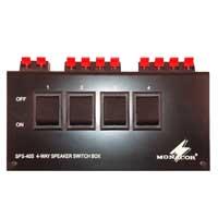 Monacor SPS-40S 4 Way Speaker Selector Box 200W