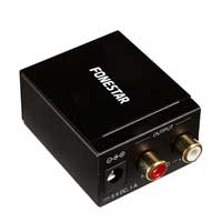 Fonestar FO-37DA Digital to Analog Audio Converter PCM SPDIF Stereo