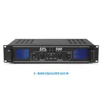"2x Skytec 6"" Speakers + LED Power Amplifier + Cables 500W"