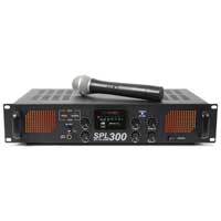 Skytec SPL-300VHF Power Amplifier with Wireless Microphone 2 x 150W