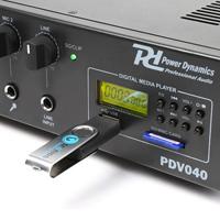 PA Amplifier 40W 8 Ohm 70/100 Volt Line Installation 240v or 12v Car Amp|PDV040