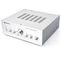 Skytronic Silver 2x 50W Stereo DVD CD MP3 Player Home Theatre Hifi Amplifier