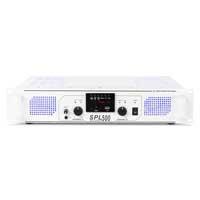 Skytec SPL500 MP3 Blue LED + EQ USB/SD Amp White DJ Disco Party Amplifier 500W