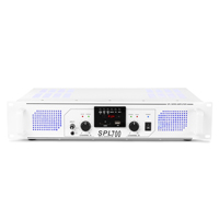 Skytec SPL700 MP3 Blue LED + EQ USB/SD Amp White DJ Disco Party Amplifier 700W