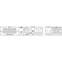 Monacor 174420 PA-324 PA 100V Line Mixer Amplifier Mono 1x240 Watt