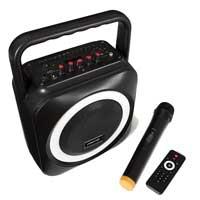 Fonestar BOX-35LED Portable Battery Karaoke Speaker with Microphone 35W RMS