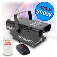 Beamz S500 Christmas Halloween Party Smoke Fog Mist Effects Machine Fluid 500W