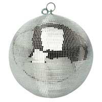 Silver Glitter Mirror Ball - 40cm