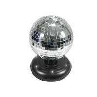 Cheetah Free Standing Rotating Mirror Ball with LEDs 6""