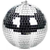 Soundlab Silver Lightweight Mirror Ball 10 Inch