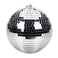 Soundlab Silver Lightweight Mirror Ball 8 Inch