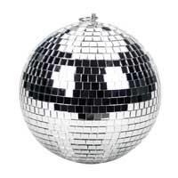 Silver Glitter Mirror Ball - 20cm