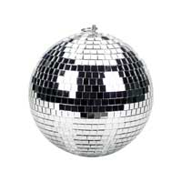 Soundlab Silver Lightweight Mirror Ball 4 Inch