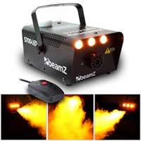 Beamz Smoke Machine with Flame Effect + 4x 250ml Fluids