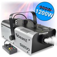 2x Beamz Smoke Machines + 4x 250ml Fluids 1200W