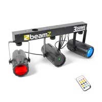 Beamz 3-Some LED Moonflower Red & Green Laser Lighting Rail