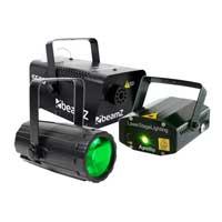 BeamZ Moonflower + Laser + Smoke Machine 500W