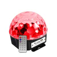 Max Jellyball LED Party Light with MP3 Player & Speaker
