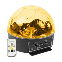 BeamZ Mini Star Disco Ball with Remote Control