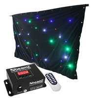 Beamz Sparklewall Star Cloth RGBW LED 3 x 2m with DMX Remote