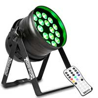 Beamz Professional BPP210 PAR 64 Light 18x12w Quad RGBW LED DMX