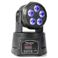 Beamz MHL90 Mini Moving Head Light HEX LED RGBAW-UV with DMX Pan Tilt