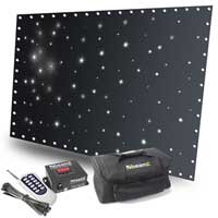 BeamZ SparkleWall 3x2m White LED Star Cloth