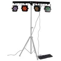 LED PAR BAR Lighting Rail RGBW Mixing DMX Mobile DJ Disco Light Foot Controller