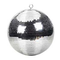 Silver Disco Ball - 30cm