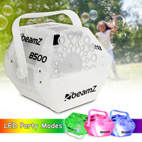Beamz B500LED RGB Bubble Machine + 1L Liquid Fluid DJ Effects Package UK Stock