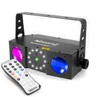 Beamz T153.716 Double Moon Light with Laser and Strobe