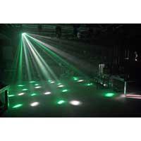 BeamZ Mini Mushroom LED Disco Party Lights Pair