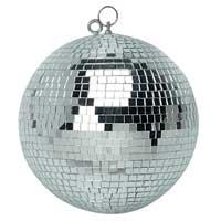 Silver Glitter Mirror Ball - 50cm